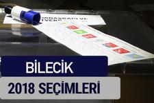 Bilecik oy oranları partilerin ittifak oy sonuçları 2018 - Bilecik