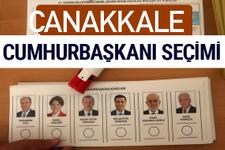 Çanakkale Cumhurbaşkanları oy oranları YSK Sandık sonuçları