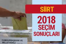 Siirt 2018 seçimleri sonucu Siirt milletvekili sonuçları