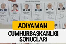 Adıyaman Cumhurbaşkanlığı seçim sonucu 2018 Adıyaman sonuçları
