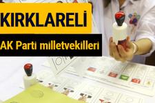 AK Parti Kırklareli Milletvekilleri 2018 - 27. dönem AKP isim listesi