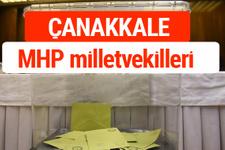 MHP Çanakkale Milletvekilleri 2018 -27. Dönem listesi