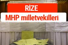 MHP Rize Milletvekilleri 2018 -27. Dönem listesi