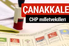 CHP Çanakkale Milletvekilleri 2018 - 27. dönem Çanakkale listesi