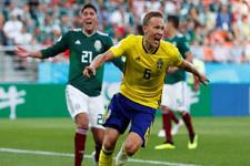 İsveç gol yağdırdı Meksika dağıldı