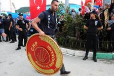 Soylu'nun talimatı ilk kez uygulandı! Şehit cenazesinde CHP İl Başkanı...