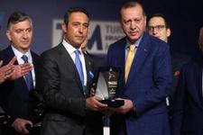 Erdoğan'dan Fenerbahçe Başkanı Ali Koç'a mesaj