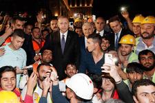 Erdoğan iftar sonrası incelemelerde bulundu