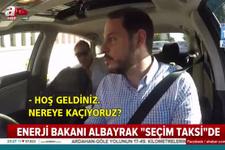Enerji Bakanı Berat Albayrak, Seçim Taksi'de halkın nabzını tuttu