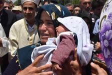 1.5 aylık Mehmet Akif şehit babasını böyle uğurladı...
