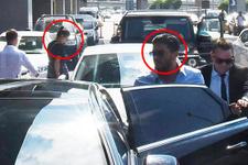 Ebru Şallı ve Uğur Akkuş muhabirleri görünce kaçtılar