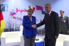 Cumhurbaşkanı Erdoğan - Merkel görüşmesi başladı
