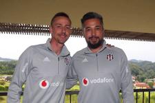 Guti ve İlhan Mansız Beşiktaş kampında