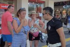 Kadın turistler bir anda neye uğradığını şaşırdı!