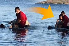 Bodrum'da can pazarı! Başkan denize atladı turisti kurtardı