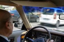 Bahçeli klasik aracıyla Ankara turu attı! Sosyal medya sallandı