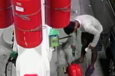 Korkunç olay! Acemi kundakçı benzin istasyonunu yakmak isterken...