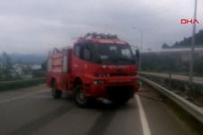 LPG yüklü tanker duvara çarptı, Karadeniz Sahil Yolu kapandı