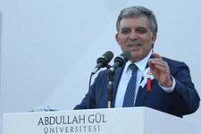 11. Cumhurbaşkanı Gül Kayseri'de konuştu