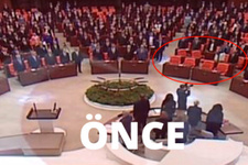 HDP'li vekiller Meclis'e İstiklal Marşı okunduktan sonra giriş yaptı