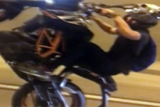 Beşiktaş Tüneli'nde tek teker kazası!