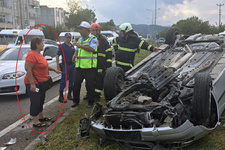Acı tesadüf: Eşinin kazasına denk gelince şoke oldu!