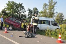 Samsun'da trafik kazası: 2 ölü 1 yaralı