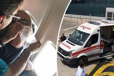 Uçakta panik anları: Pilot hemen kuleyi aradı!
