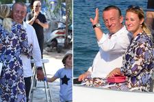 Ali Ağaoğlu ortanca hanımı Petek Ertüre ile barıştı!