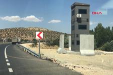 Diyarbakır-Mardin karayolunda zırhlı güvenlik kuleleri