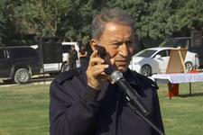Hulusi Akar, Cumhurbaşkanı Erdoğan'ın bayram mesajını askerlere dinletti