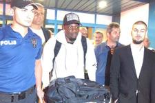 Trabzonspor'un yeni transferi Caleb Ekuban şehre geldi