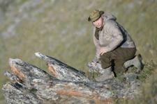 Putin dağlarda dolaştı balık tuttu avlandı