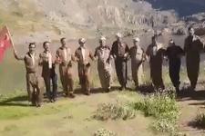 PKK'dan temizlenen dağda Türk bayraklarıyla halay çektiler