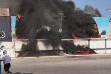 İzmir otogarında korkutan yangın!