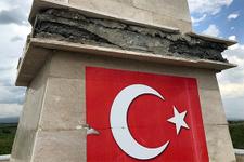 Kars'ta şehitler anıtına saldırı!