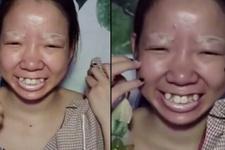 Genç kadının makyajla değişim videosu şoke etti