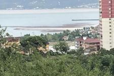 Sel felaketinin ardından denizde Fındık Adacığı oluştu