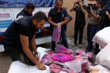 Depo baskınında binlerce taklit okul çantası ve kalemlik!