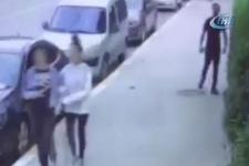 Esenyurt'ta kadınları taciz eden şahıs kameraya yakalandı