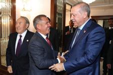 Erdoğan'a Kırgızistan'da büyük ilgi