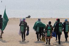 Suudi kadınlar plaja böyle geldiler! İşte sıradışı kareler
