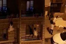 Hatay'da korkunç görüntü! Genç kadın 3. kattan böyle atladı