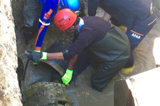 Su borusunun içine düşen işçinin cesedi bulundu