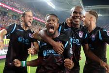 Trabzonspor yabancılarıyla coştu