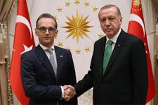 Cumhurbaşkanı Erdoğan, Maas'ı kabul etti