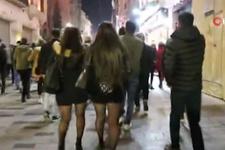 Taksim'de taciz anları güven timleri tarafından engellendi