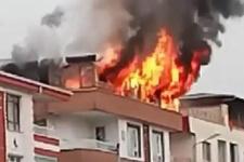 Ankara'da çıkar yangın bina sakinlerini korkuttu