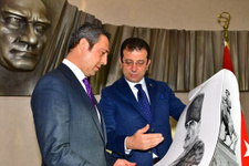 Ekrem İmamoğlu Fenerbahçe Başkanı Ali Koç'u ziyaret etti