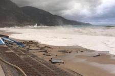 5 metrelik dev dalgalar Fethiye'yi vurdu!